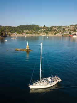 Motoring from Gibsons Harbour 2