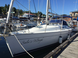 Home berth in Gibsons Harbour