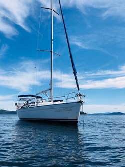 DeCourcey Island 1 anchorage