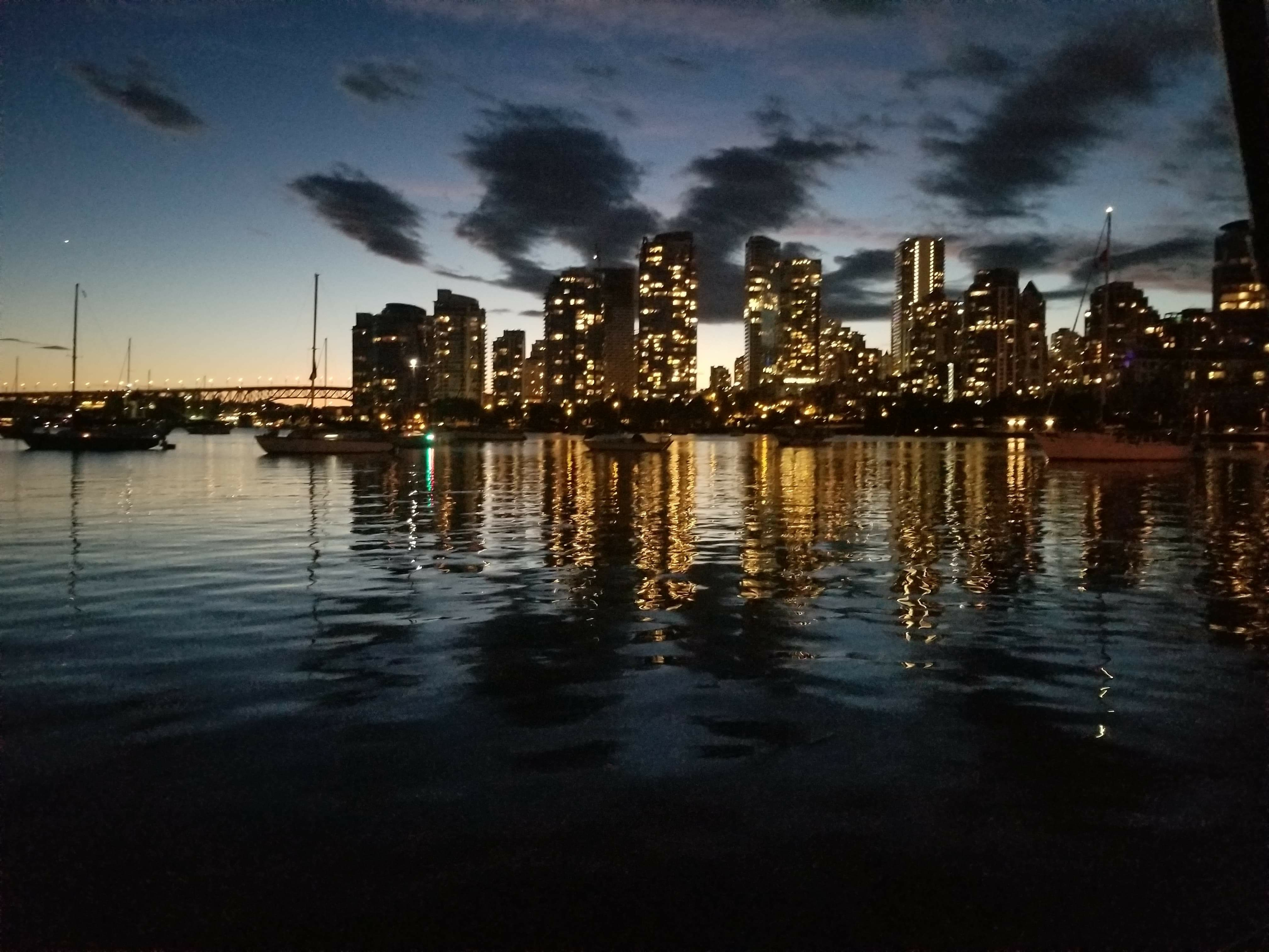 False Creek (Vancouver) after sunset