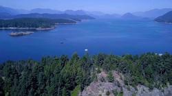 Over Worlcombe Is in Howe Sound