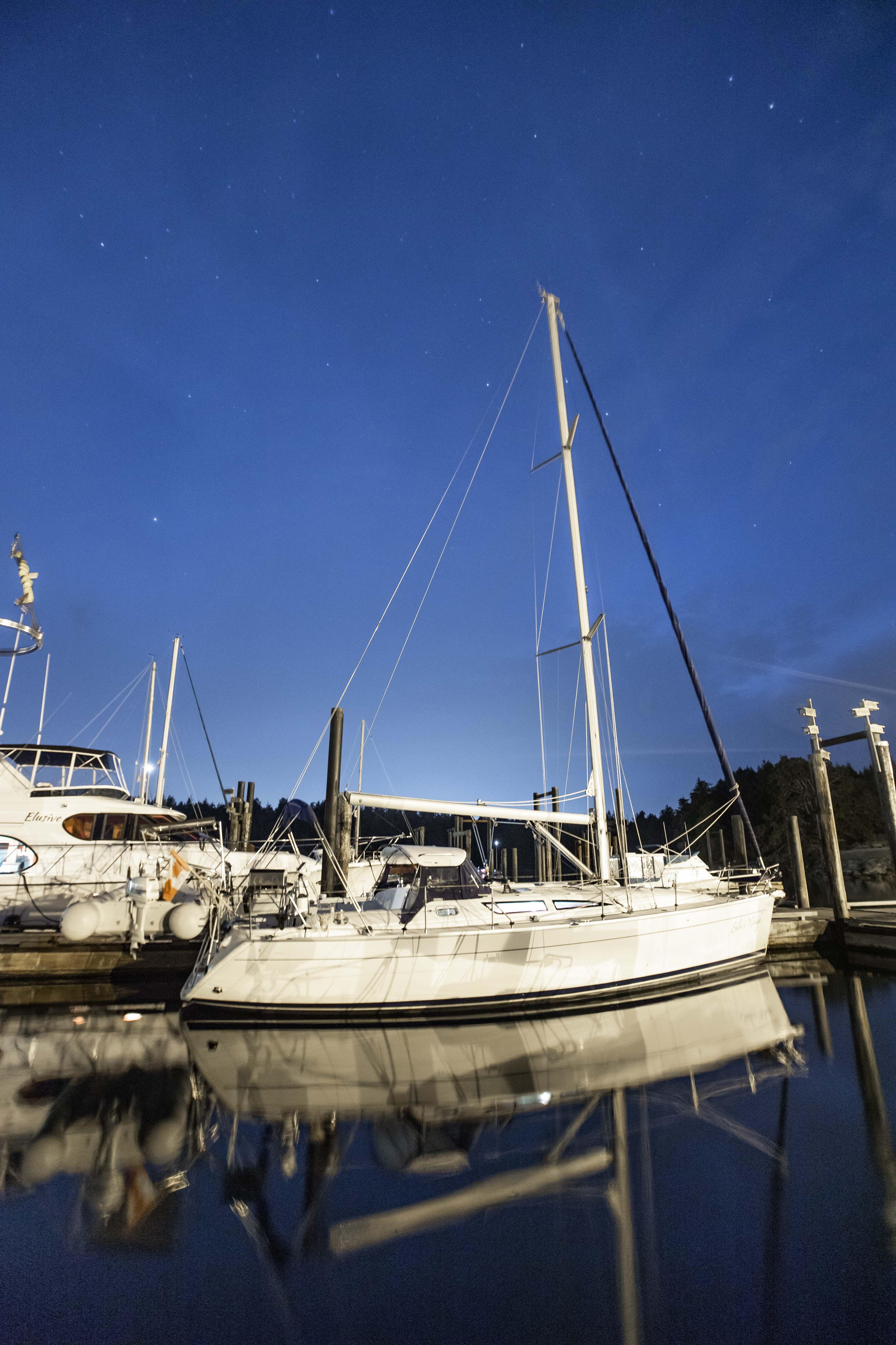 Midnight at Newcastle Island docks