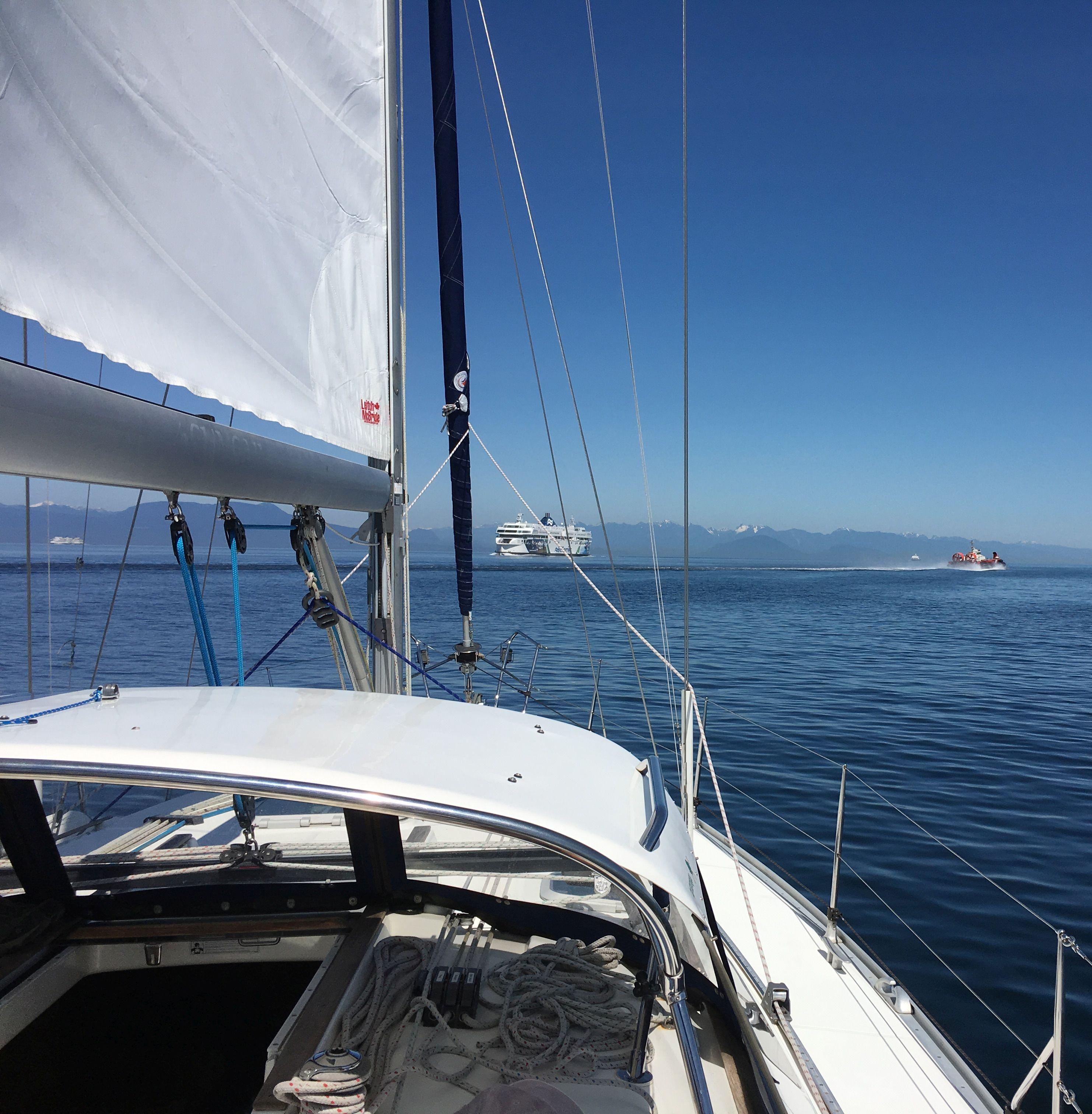 Georgia Strait crossing northwards