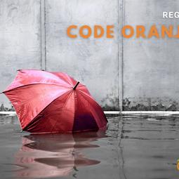 Wateroverlast: Code oranje