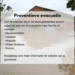 Preventieve evacuatie overstromingsgevoelige gebieden