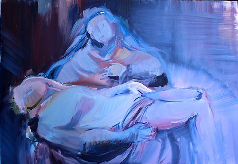 Art Sacré Vierge Pieta Paris Peintre