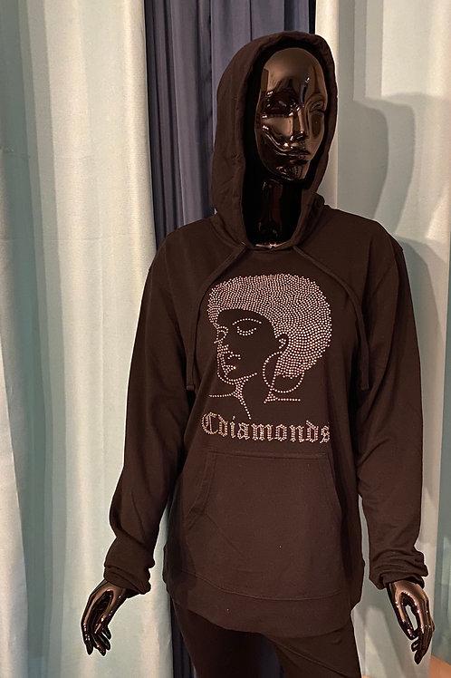 Women's Crystal Afro Sweatshirt