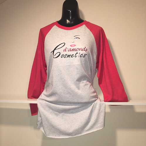 Cdiamonds Womens Red and Grey Jersey Tee