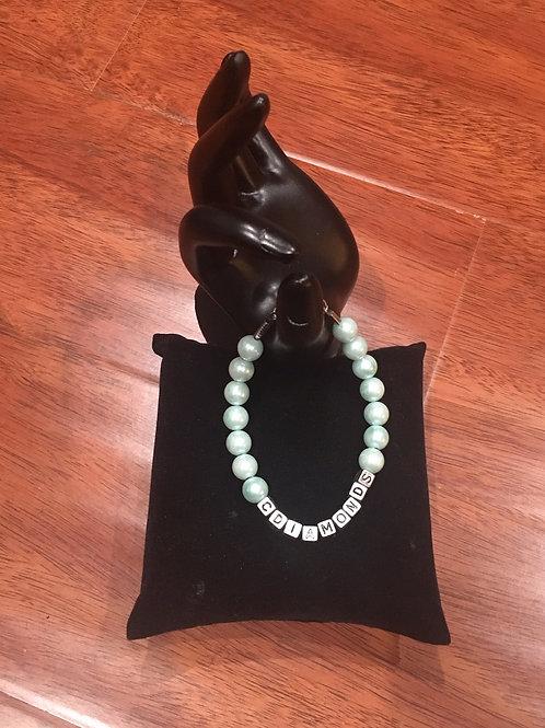 Women's Frosted Aqua Pearl Signature Bracelet