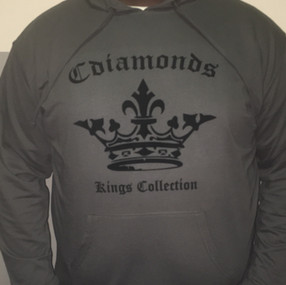 Kings Collection Men's Grey and Black  Sweatshirts