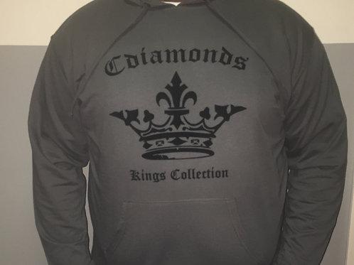 Kings Collection Men's Signature Grey and Black Sweatshirt