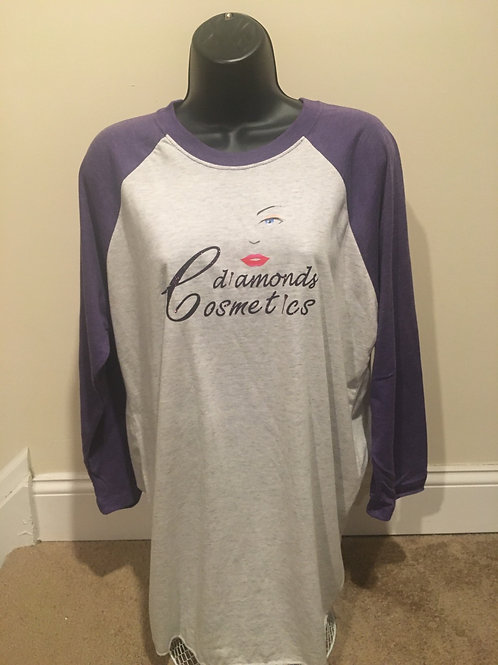 Cdiamonds Womens Purple and Grey Jersey Tee