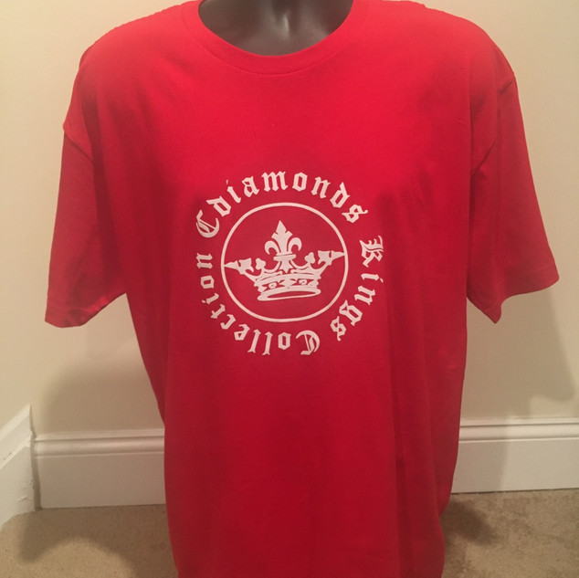 Kings Collection Red and White Tshirt