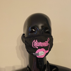 Women Pink and Black Soft Mask