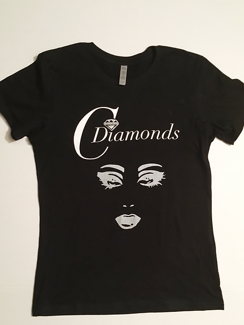 Signature Tee with Silver Eyes/Lips
