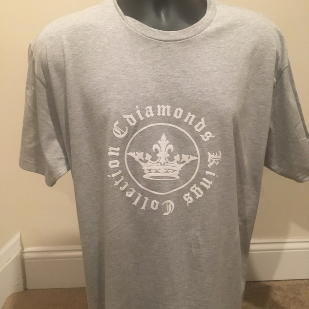 Kings Collection Grey and White Tshirt