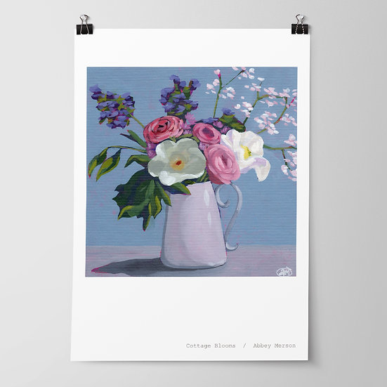 'Cottage Blooms' Print by Abbey Merson