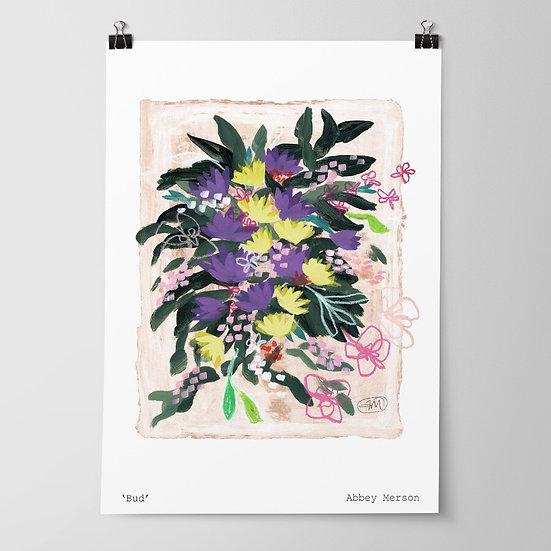'Bud' Print by Abbey Merson