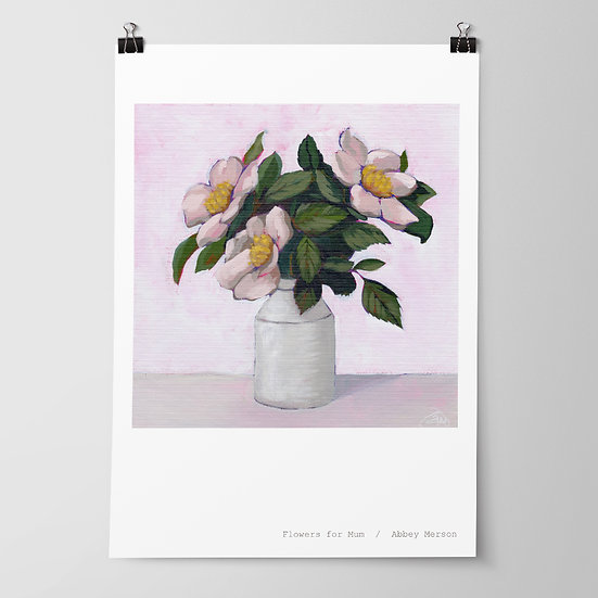 'Flowers for Mum' Print by Abbey Merson