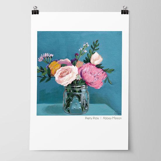 'Pretty Picks' Print by Abbey Merson