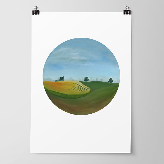'Heretaunga Plains' Limited Edition Print by Abbey Merson
