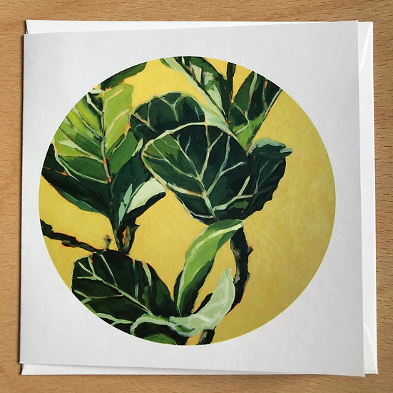 Fiddle-leaf Fig Art Card