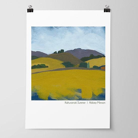 'Kahuranaki Summer' Print by Abbey Merson