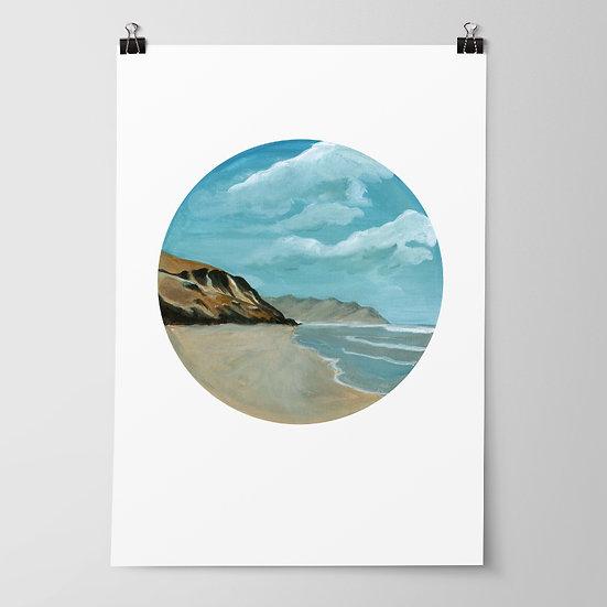 'Kairakau Beach' Limited Edition Print by Abbey Merson