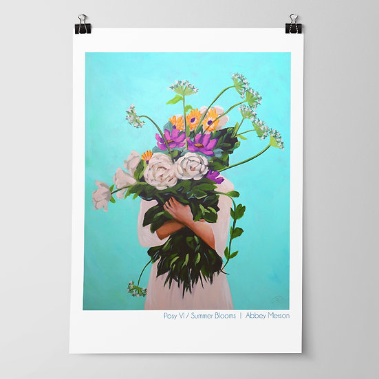 'Posy VI / Spring Blooms' Print by Abbey Merson