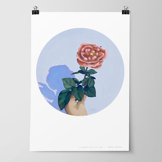 'I picked this for you' Print