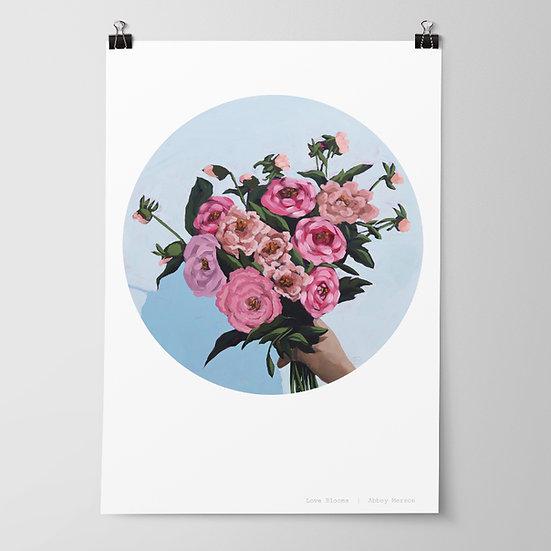 'Love Blooms' Print