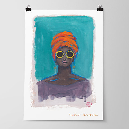 'Confident' Print by Abbey Merson