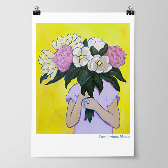 'Posy I / Blooms' Print by Abbey Merson