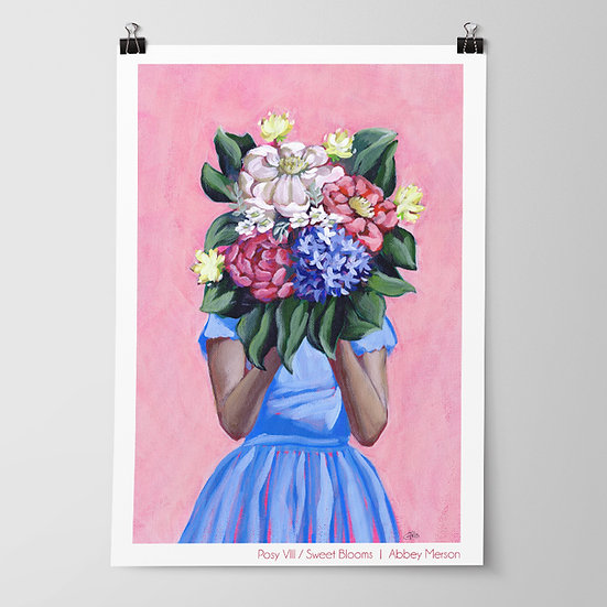 'Posy VIII / Sweet Blooms' Print by Abbey Merson