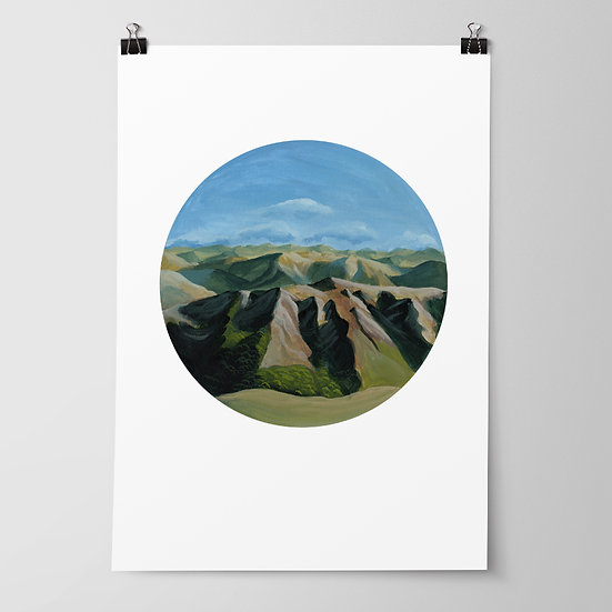 'Kaweka Ranges' Limited Edition Print by Abbey Merson