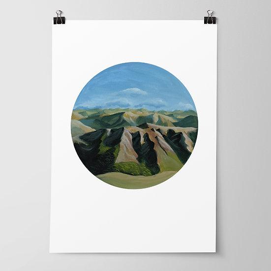 'Kaweka Ranges' Limited Edition Print by Abbey Merson