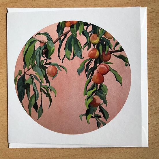 Peach Tree Art Card