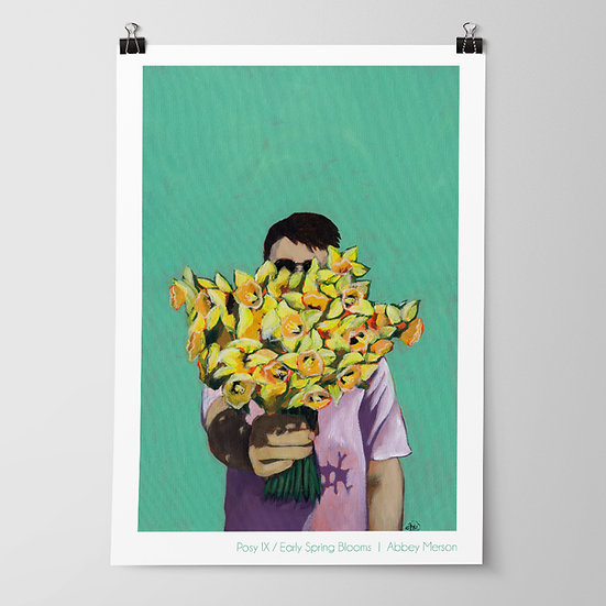 'Posy IX / Early Spring Blooms' Print by Abbey Merson