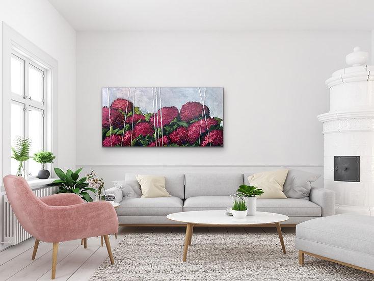 'Red Hydrangea' by Abbey Merson