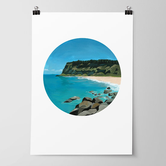 'Waipatiki Beach' Limited Edition Print by Abbey Merson