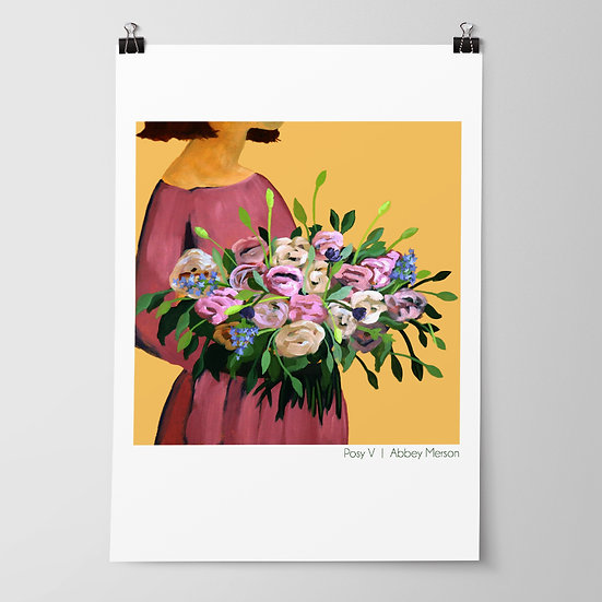 'Posy V / Autumn Blooms' Print by Abbey Merson