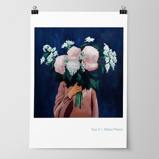 'Posy III / Midnight Blooms' Print by Abbey Merson