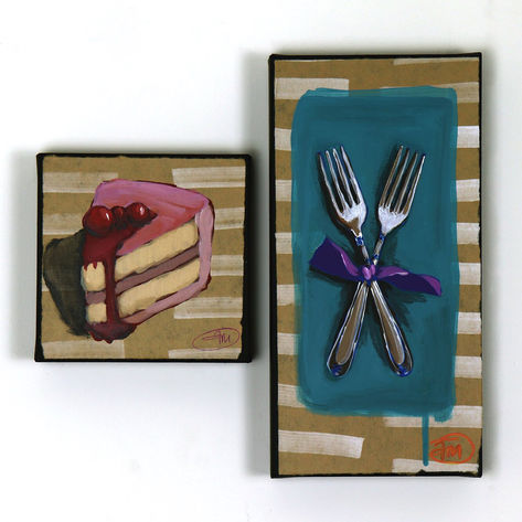 'Fork 'n Cake' Diptych