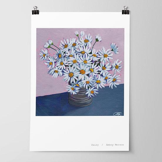 'Daisy' Print by Abbey Merson