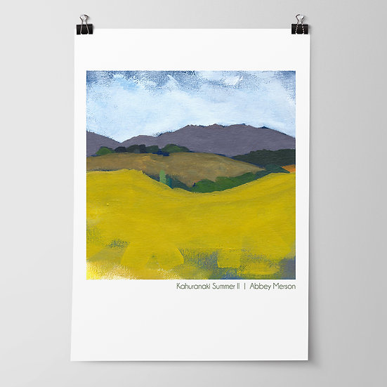 'Kahuranaki Summer II' Print by Abbey Merson