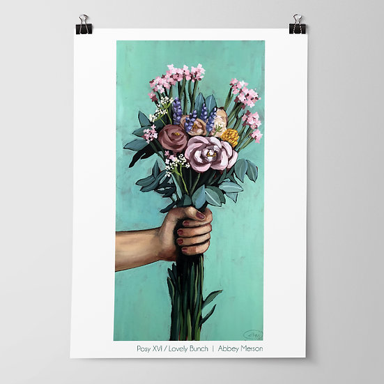 'Posy XVI / Lovely Bunch' Print by Abbey Merson