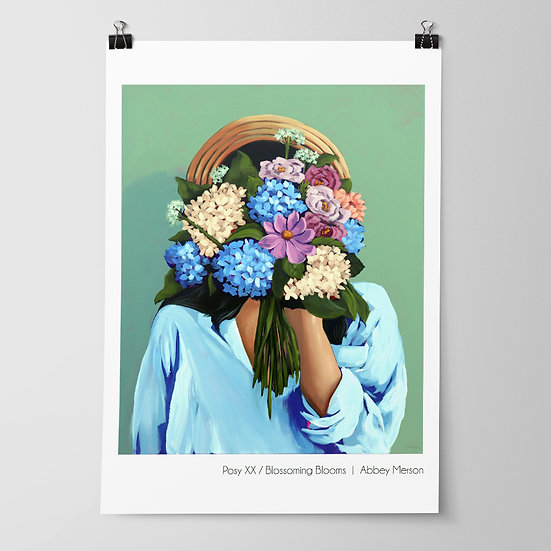 'Posy XX / Blossoming Blooms' Print by Abbey Merson
