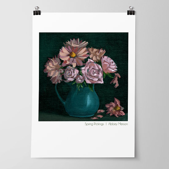 'Spring Pickings' Print by Abbey Merson