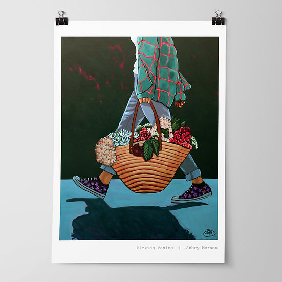 'Picking Posies' Print by Abbey Merson