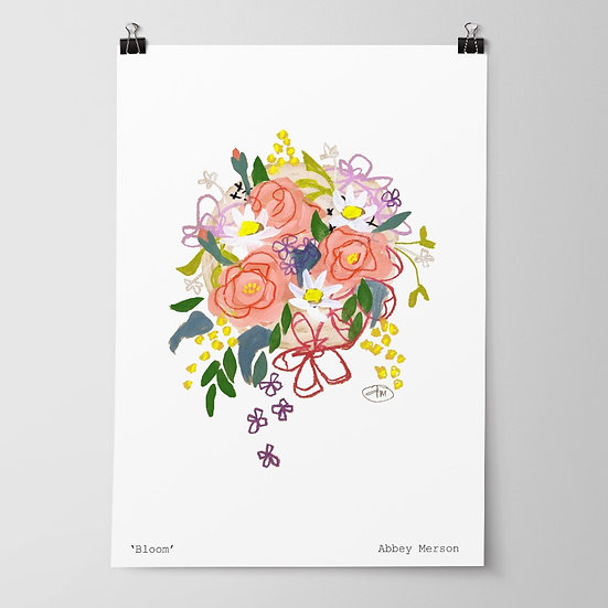 'Bloom' Print by Abbey Merson